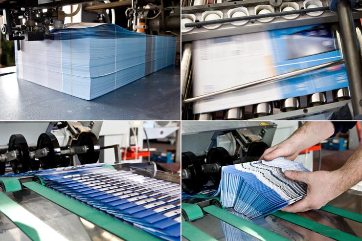 Folieren spielt bei Druckerzeugnissen wie Broschüren eine wichtige Rolle. (Bild: Goss Vitalij - fotolia.com)