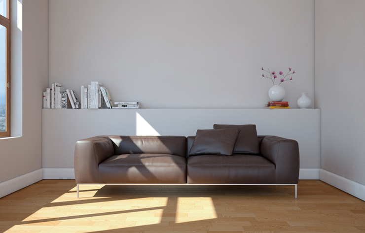 Ein schickes Ledersofa ist ein echter Blickfang im Raum. (Symbolbild: virtua73 - Fotolia.com)